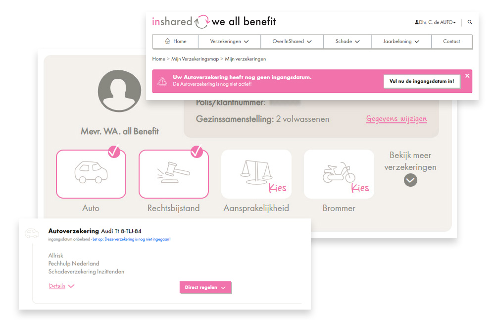 inshared verzekeringsmap